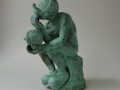 Lessons of adolescence # Thinker, Bronze, Edition 5 + 1 ap, ca. 20 cm high